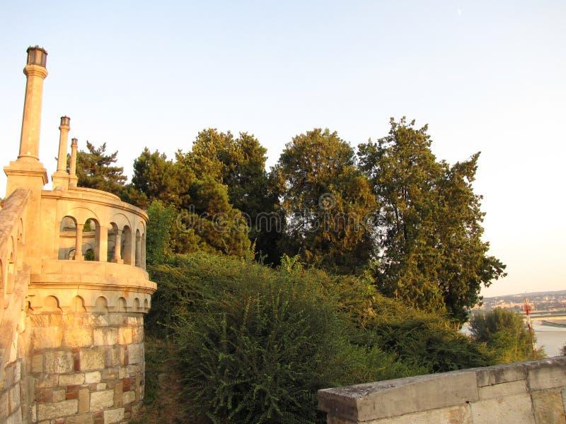 Крепость Kalemegdan в Белграде на лете стоковое фото