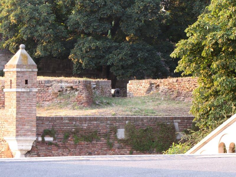 Крепость Kalemegdan в Белграде на лете стоковое изображение rf