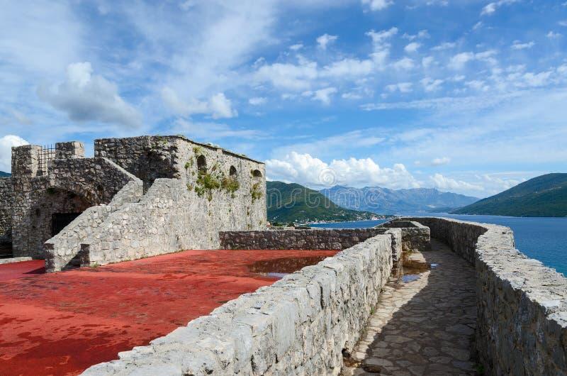 Крепость Kanli Kula (кровопролитная башня), Herceg Novi, Черногория стоковое изображение