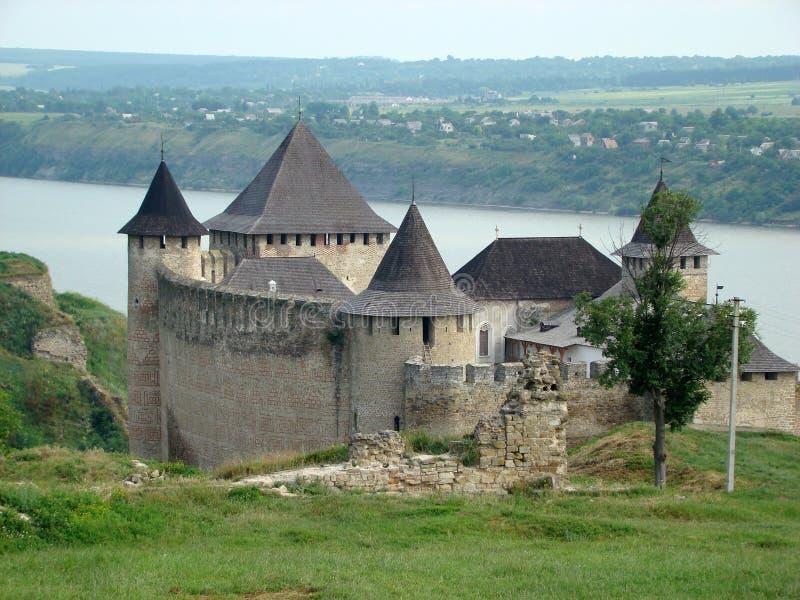 Крепость Khotyn, провинция Chernivtsi областная западной Украины стоковые изображения