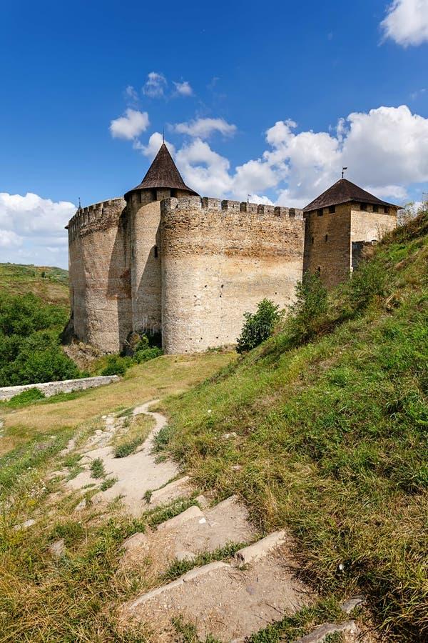 Download Крепость Khotyn, Украина стоковое фото. изображение насчитывающей интерес - 40587898