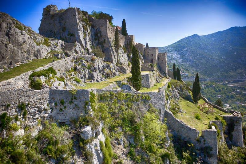 Крепость Klis стоковое изображение