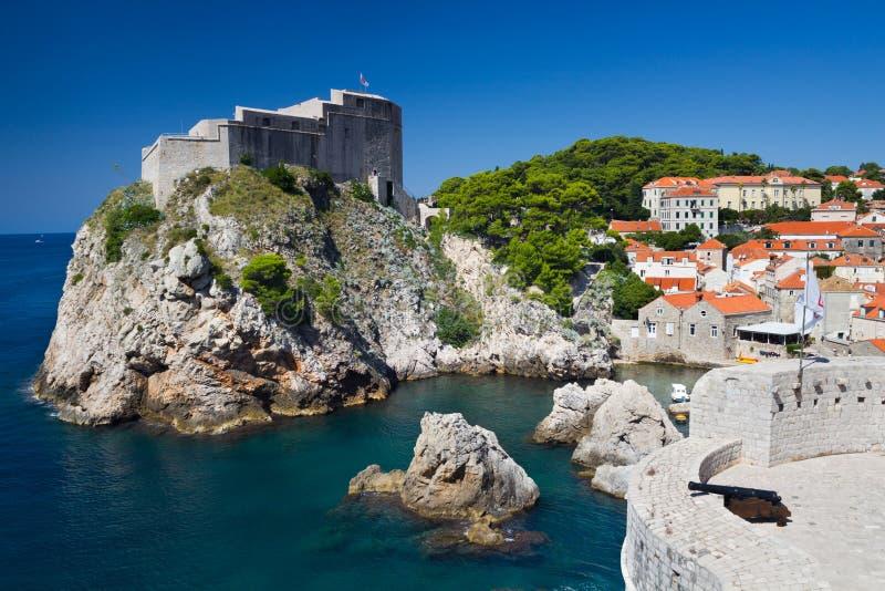 Крепость Lovrijenac в Дубровнике стоковые изображения rf