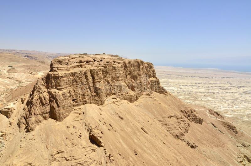 Крепость Masada, Израиль. стоковые изображения rf