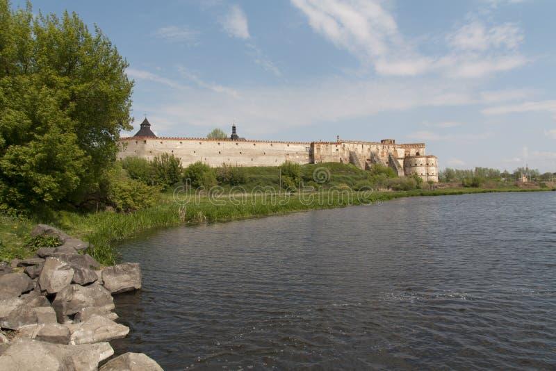 Крепость Mediaval в месте Medzhibozh украинском фото славы стоковое изображение