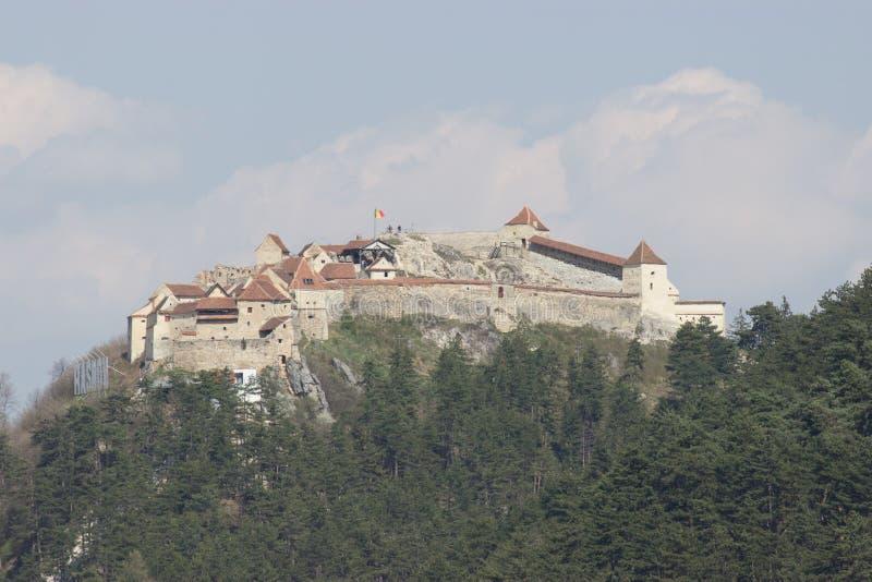Крепость Rasnov средневековая стоковая фотография rf