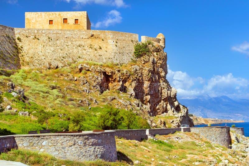 Крепость Rethymno замка Fortezza, Крит, Греция стоковые фотографии rf