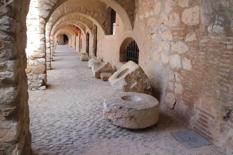 Крепость Salses во Франции стоковые фото