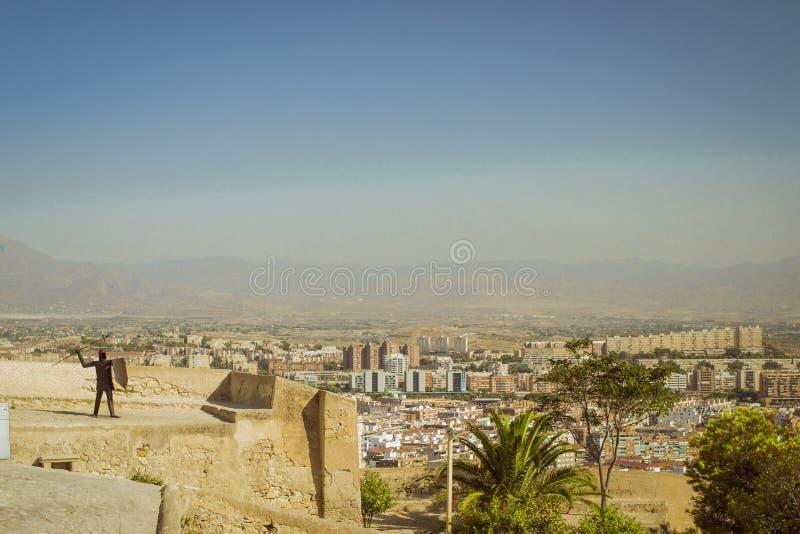 крепость santa Испания alicante Барвары стоковые изображения rf