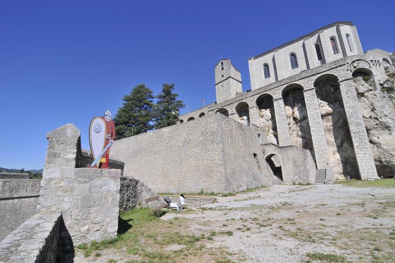 Крепость Sisteron стоковое фото rf