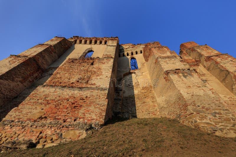 Крепость Slimnic Transylvania, Румыния стоковая фотография rf