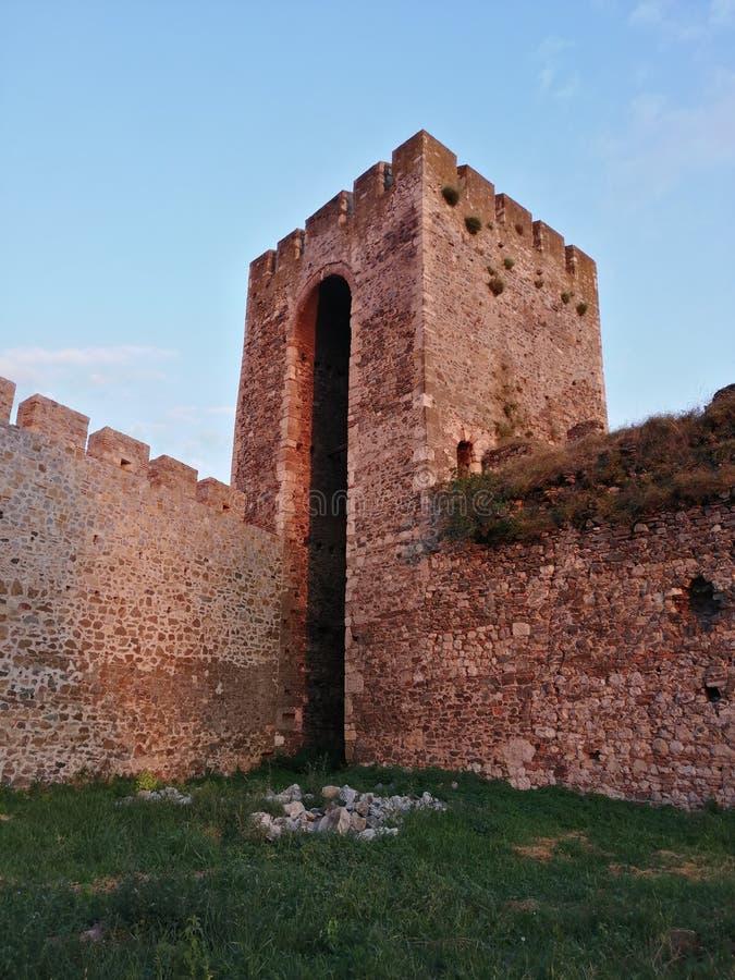 Крепость Smederevo в Сербии на реке Дунай стоковые фотографии rf