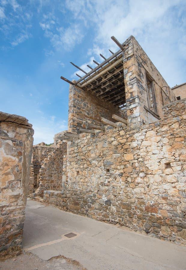Крепость Spinalonga, Крит - Греция стоковое изображение rf