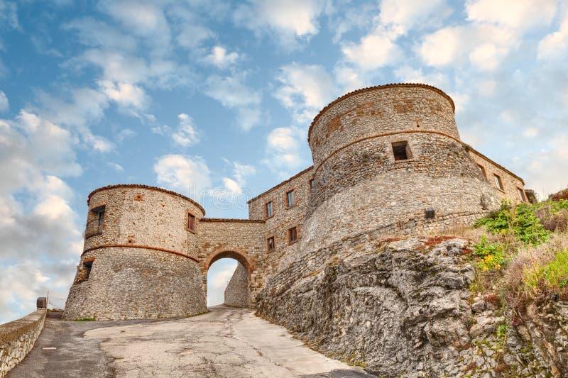 Крепость Torriana, Римини, Италии стоковые изображения rf
