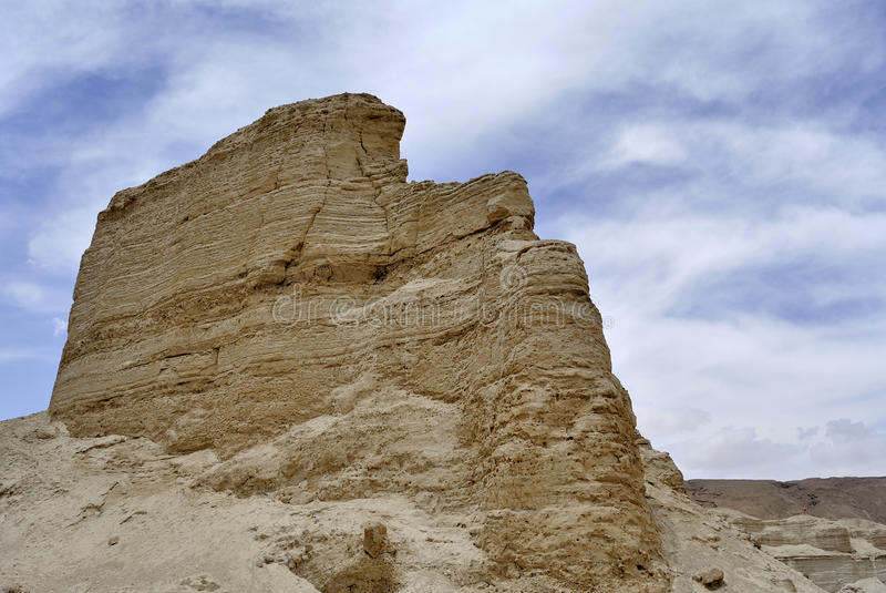 Крепость Zohar в пустыне Иудеи. стоковое фото rf