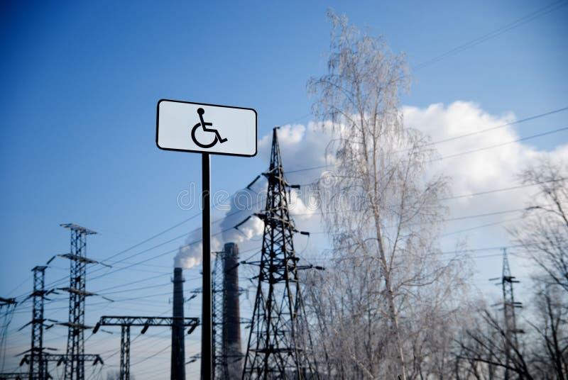 кресло-коляска движения знака стоковое изображение rf
