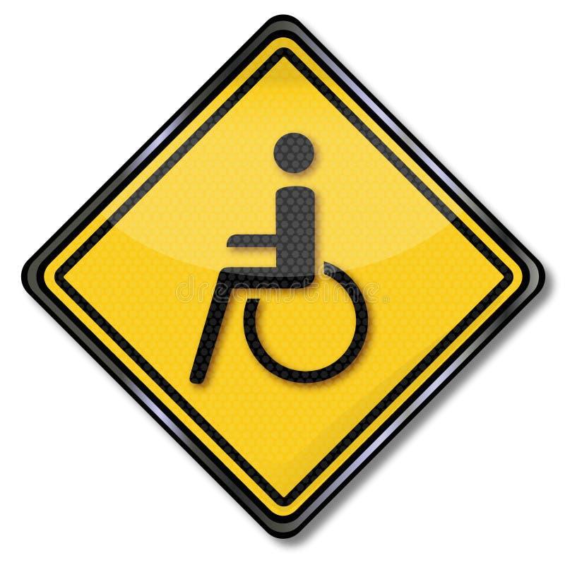 Кресло-коляска и инвалидность иллюстрация вектора