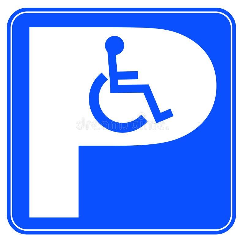 кресло-коляска стоянкы автомобилей бесплатная иллюстрация