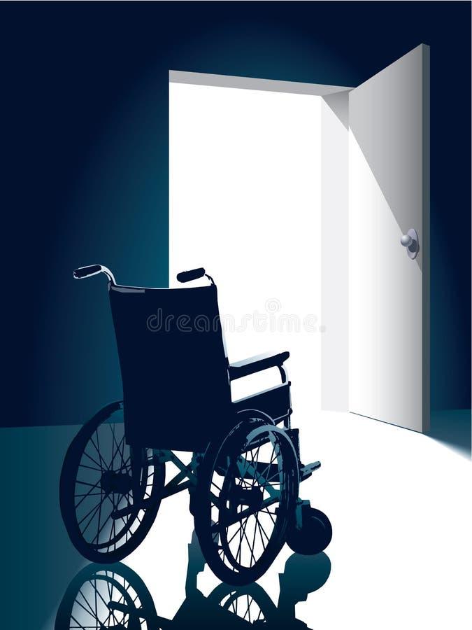кресло-коляска иллюстрация штока