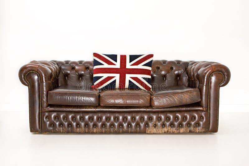 кресло chesterfield стоковая фотография rf
