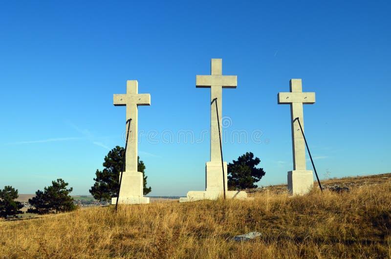 3 креста стоковые фото