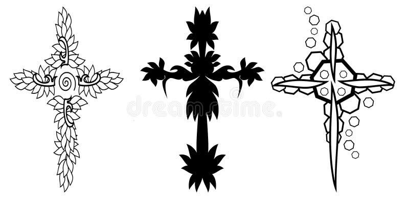 кресты иллюстрация штока