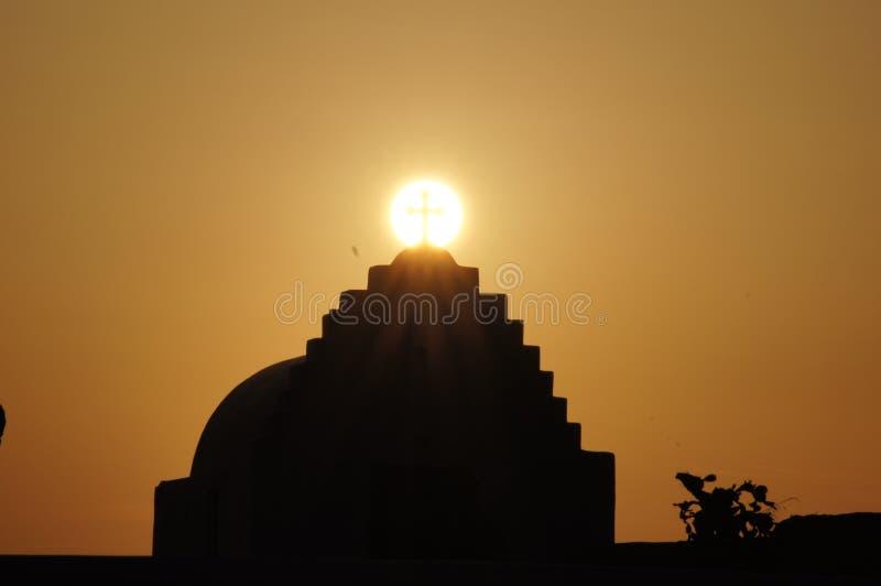 Крест восхода солнца стоковые фотографии rf