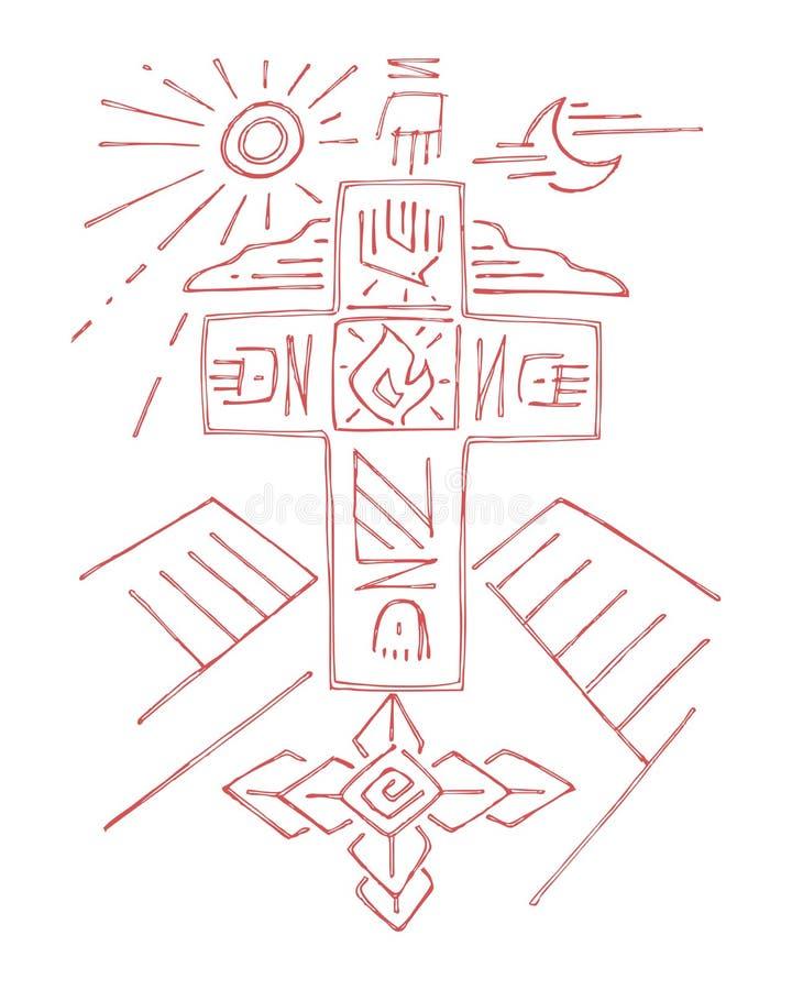 Крест жизни иллюстрация штока