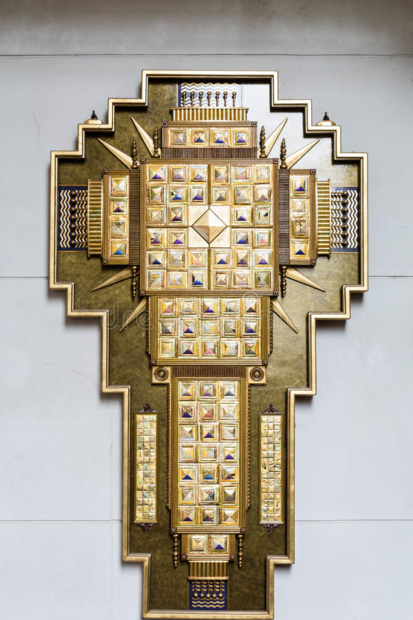 Крест инкрустированный золотом стоковая фотография rf