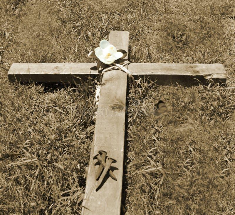 Крест и ногти стоковое фото