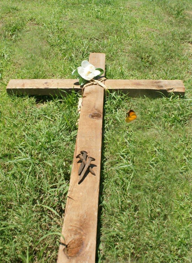 Крест и ногти стоковая фотография