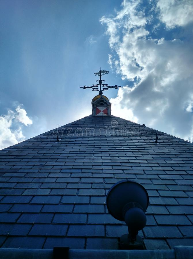 Крест и облако стоковое фото rf