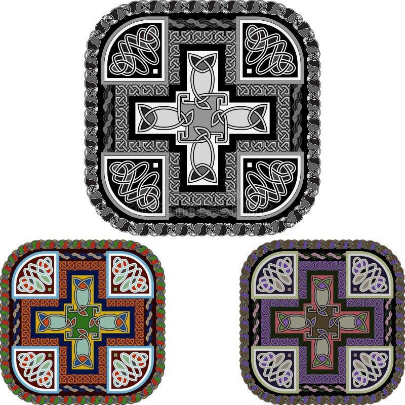 Крест и celtic орнамент иллюстрация вектора