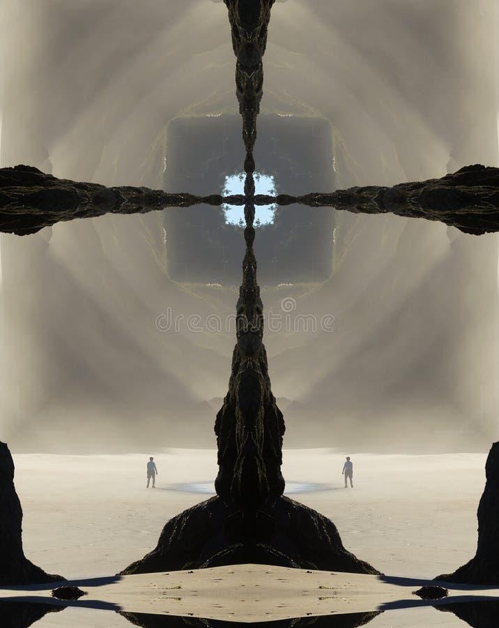 Крест калейдоскопа, свет утра, пляж Орегона стоковые фото
