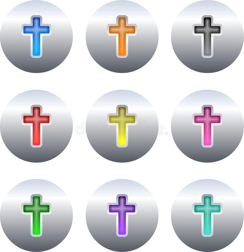 крест кнопок иллюстрация штока