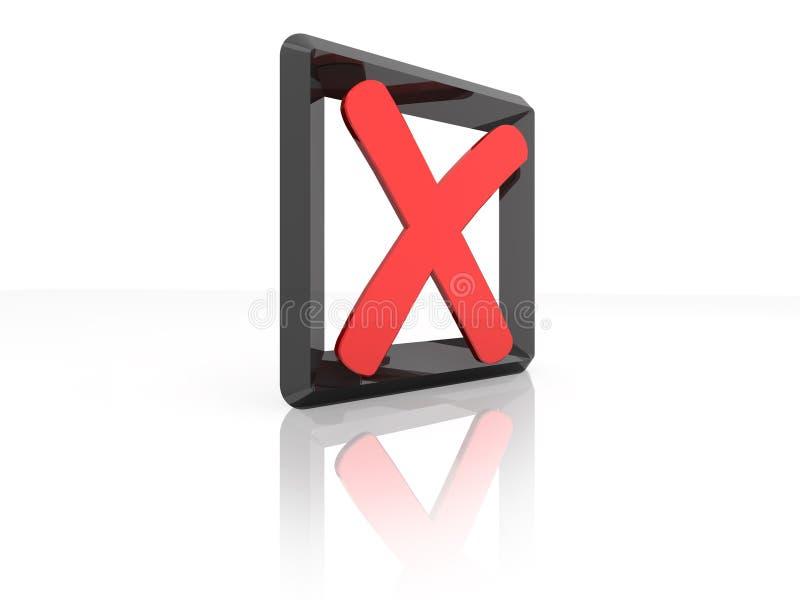 крест контрольного списока 3d иллюстрация штока