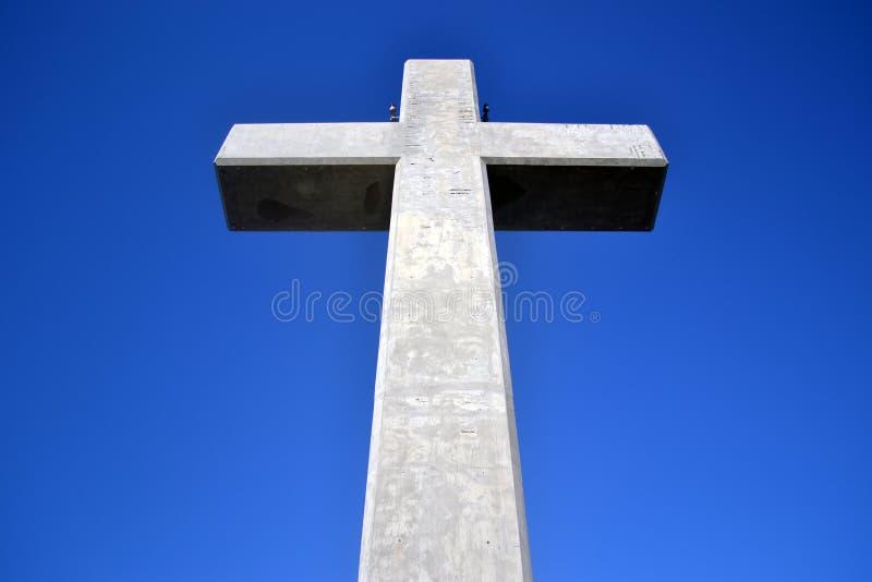 Крест на держателе Filerimos, Родосе, Греции стоковая фотография rf