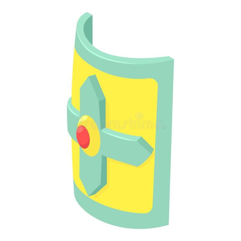 Крест на значке экрана, равновеликом стиле иллюстрация штока