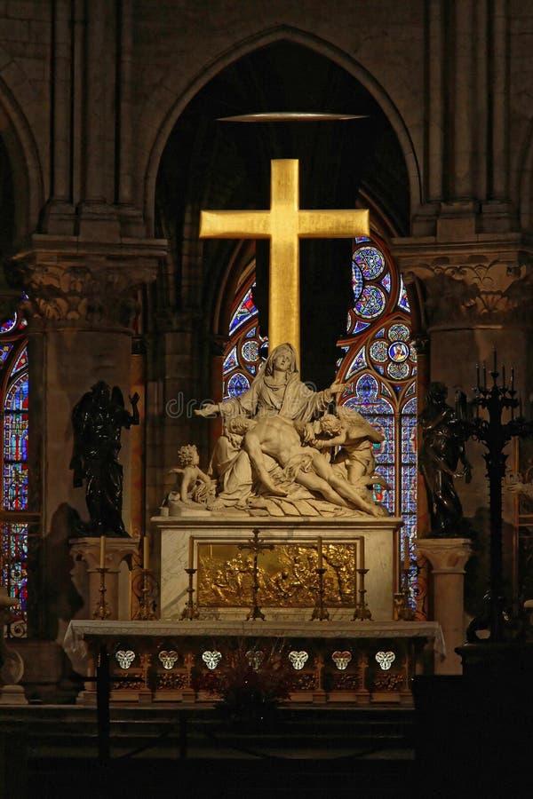 Крест Нотр-Дам стоковое изображение rf