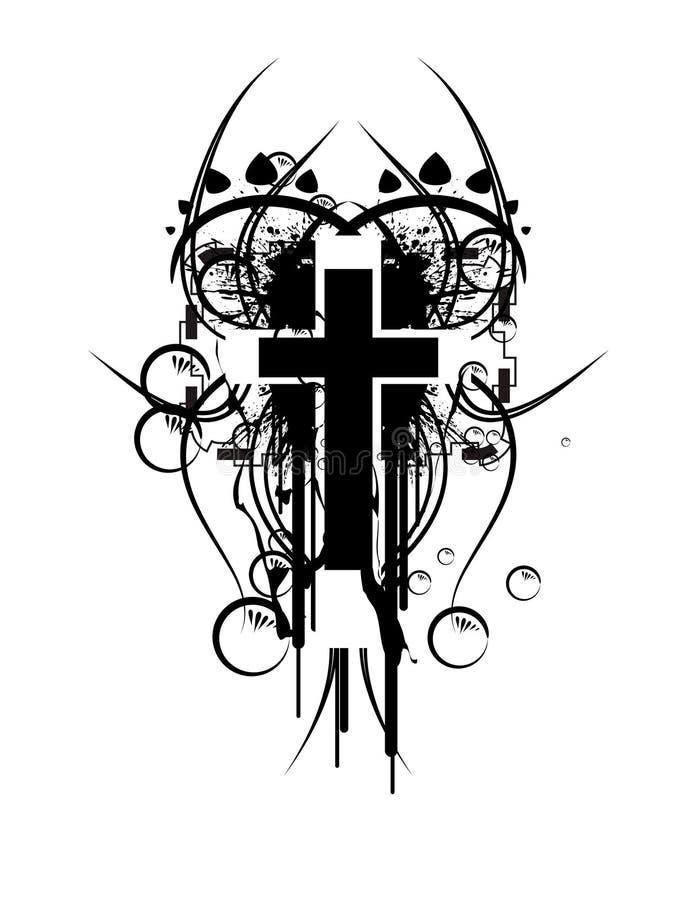 крест пузыря иллюстрация штока