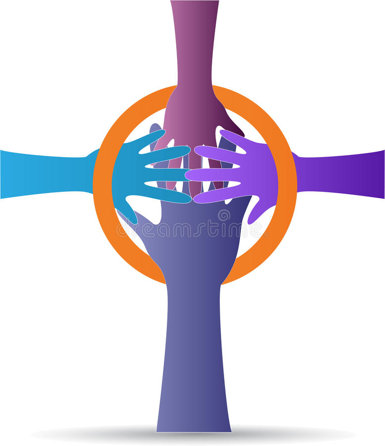 Крест руки бесплатная иллюстрация