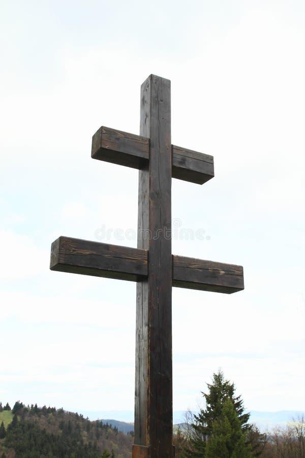 Крест словаков на горе Javornik стоковое изображение rf
