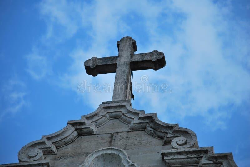 Крест собора Сан-Франциско de AsÃs, республики Панамы стоковое фото