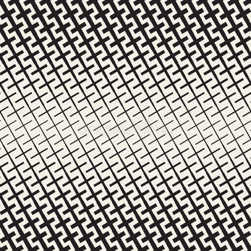 Крест формирует решетку полутонового изображения белизна вектора черной картины безшовная бесплатная иллюстрация