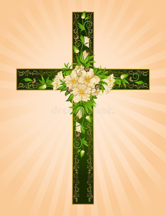крест цветет золотистое стоковые фотографии rf