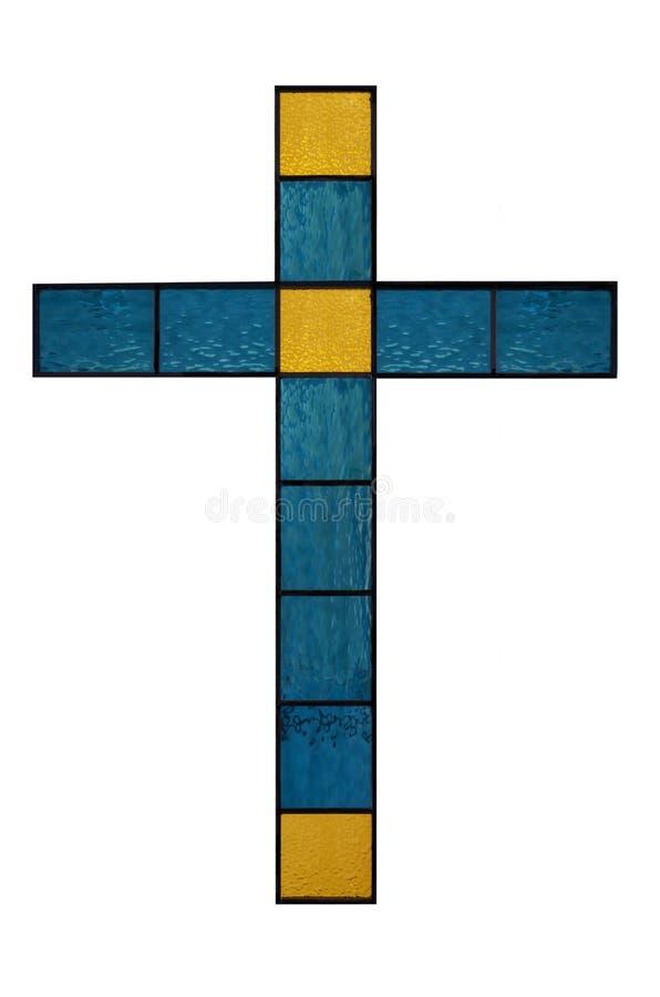 Крест цветного стекла стоковые изображения