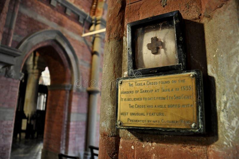 Крест Taxila на соборе Лахора, Пакистане стоковые изображения rf