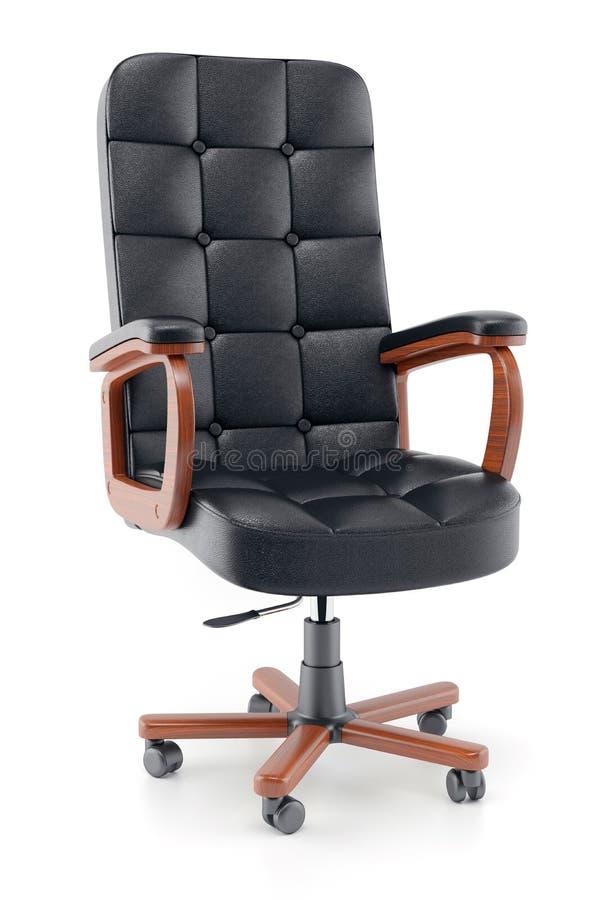 Кресло офиса черной кожи бесплатная иллюстрация