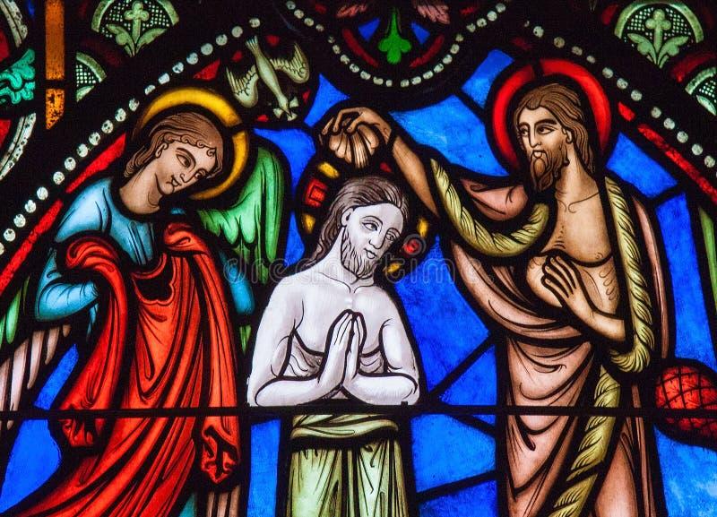 Крещение Иисуса St. John баптист стоковые изображения