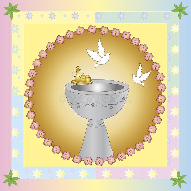Крещение иллюстрация штока